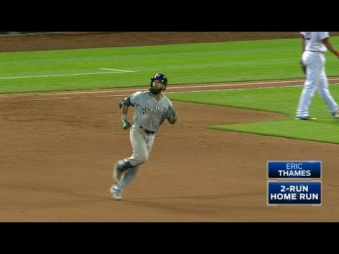 Thames rips a go-ahead two-run HR to right