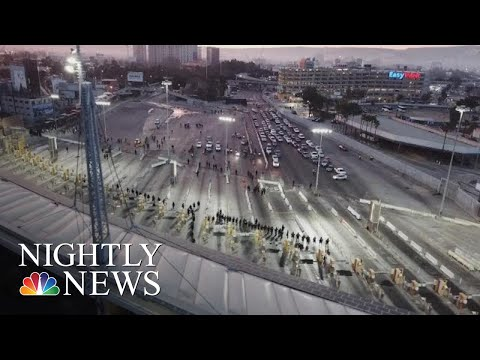 Tensions Mounting As Thousands Gather At U.S.-Mexico Border | NBC Nightly News