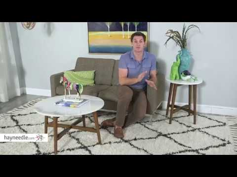 Belham Living James Round Mid Century Modern Marble Side Table   Product  Review Video