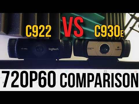 Logitech C930e vs. C922 Webcam Comparison (720p 60 FPS) // Do You NEED 60FPS??