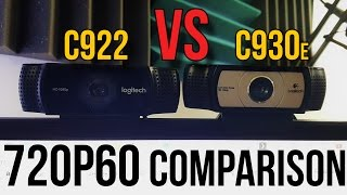 Logitech C930e vs. C922 Webcam Comparison (720p 60 FPS) // Do You NEED 60FPS??