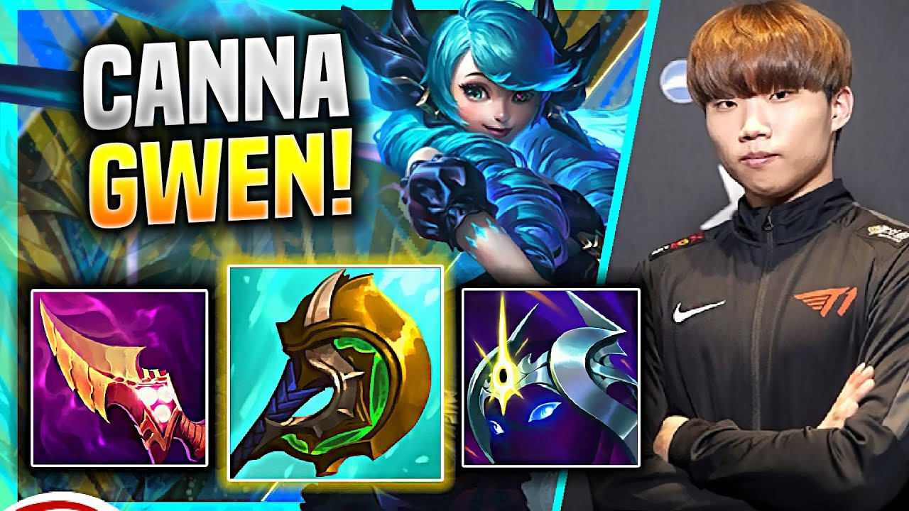 CANNA COMEBACK WITH GWEN! - T1 Canna Plays GWEN TOP vs Sylas!   KR SoloQ Patch 11.8