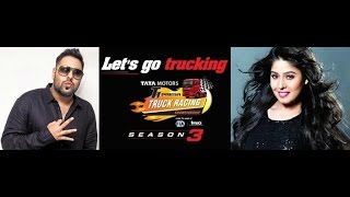 Badshah/Astha gill/Navv inder live performance 2016 / on Buddh international circuit / Truck racing