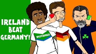 Muller, Keane and Dante in IRELAND 1-0 GERMANY! (Goals Highlights Funny Cartoon Euro 2016 qualifier)