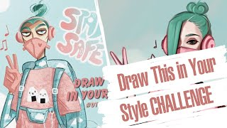 Cover images Draw This In Your Style | Krita Speedpaint | Art Challenge
