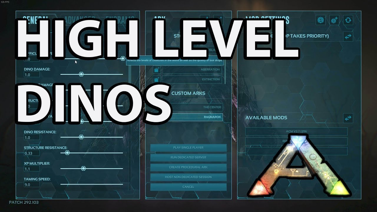 How to Get High Level Dino Spawns Ark Survival Evolved - level 150
