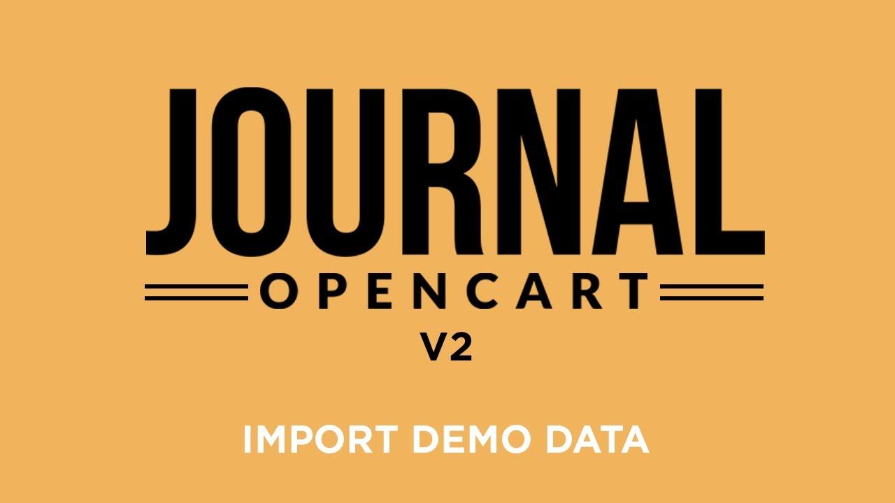 Journal Theme V2 - Import Demo Data
