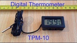 Digital Thermometer Temperature Sensor LCD Display.
