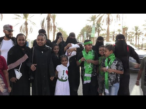 Saudi allows women into stadium for first time on national day thumbnail