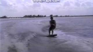 Young Dan Rimer shreds the uni-directional wakeboard