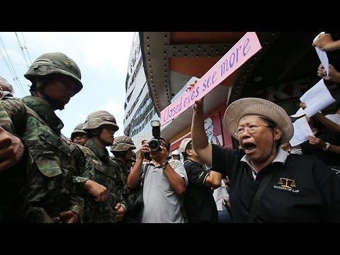 タイ各地で反クーデター運動