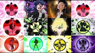 Miraculous: All Transformations {+Prototypes, Anime, Queen Bee, Ice Power}