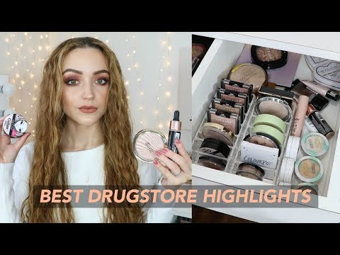 MY DRUGSTORE HIGHLIGHTER COLLECTION | Makeup Stash + Storage (SWATCHES)