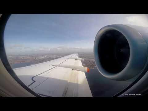 KLM Fokker 70 Belfast City Amsterdam- Full Flight