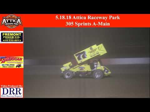 5.18.18 Attica Raceway Park 305 Sprints A-Main