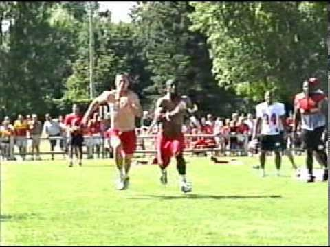 David Klemic vs. Dante Hall 2001 NFL Kansas City Chiefs Fastest Man