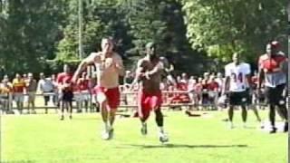 David Klemic vs. Dante Hall 2001 NFL Kansas City Chiefs Fastest Man