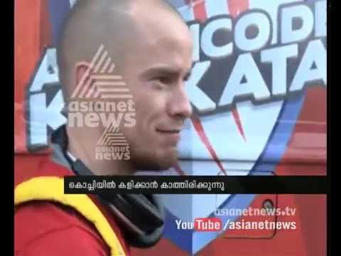 Iain Hume (Atletico de Kolkata) greets Kerala Blasters players  : Asianet News Exclusive  ISL News