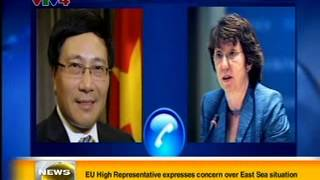 Vietnamese Deputy PM and FM Pham Binh Minh makes a diplomatic phone call
