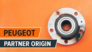 Kuinka vaihtaa takapyörän laakerit Peugeot Partner Origin -merkkiseen autoon | Ohjevideo HD