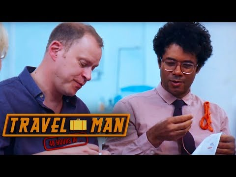 Richard Ayoade & Robert Webb Enjoy Some Embroidery  48hrs in...Madeira