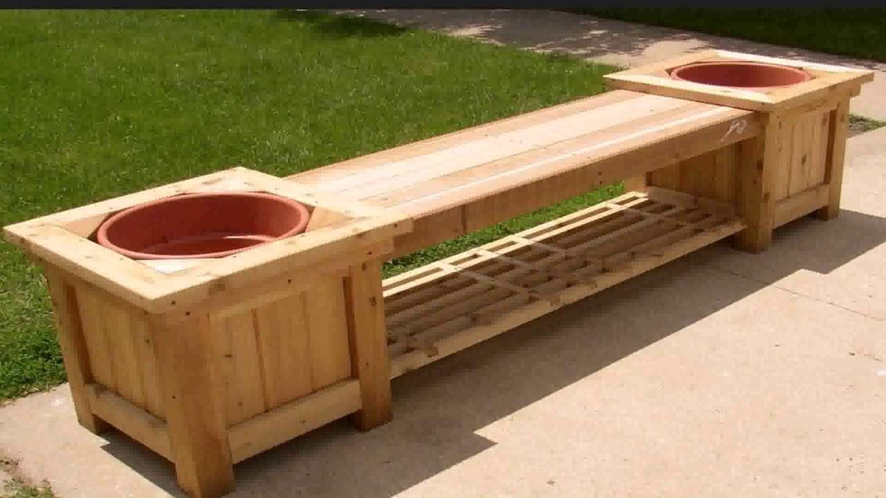 Wooden Garden Bench Designs - YouTube