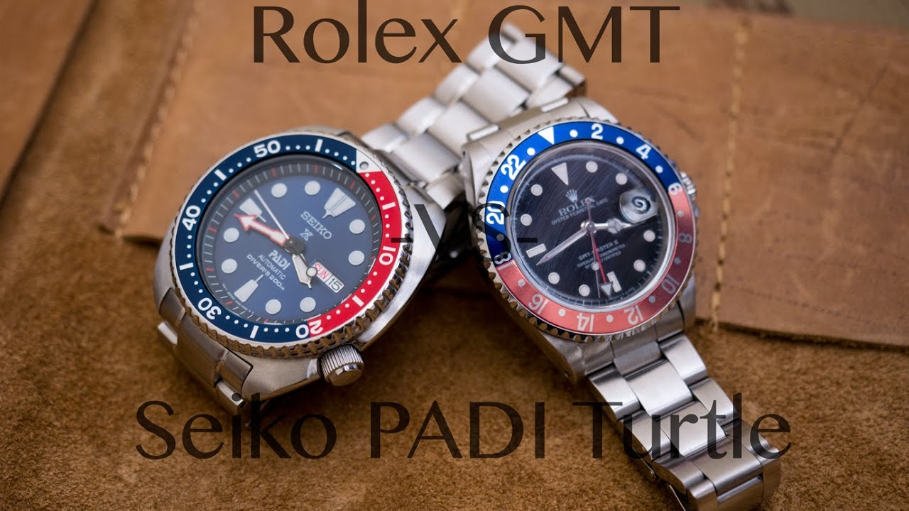 Rolex Gmt Vs Seiko Padi Turtle Battle Of The Pepsi Youtube
