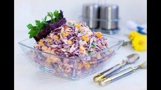 Салат з капусти червоної І Коулсло