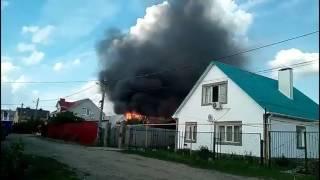 Горит цыганский дом в Воронеже
