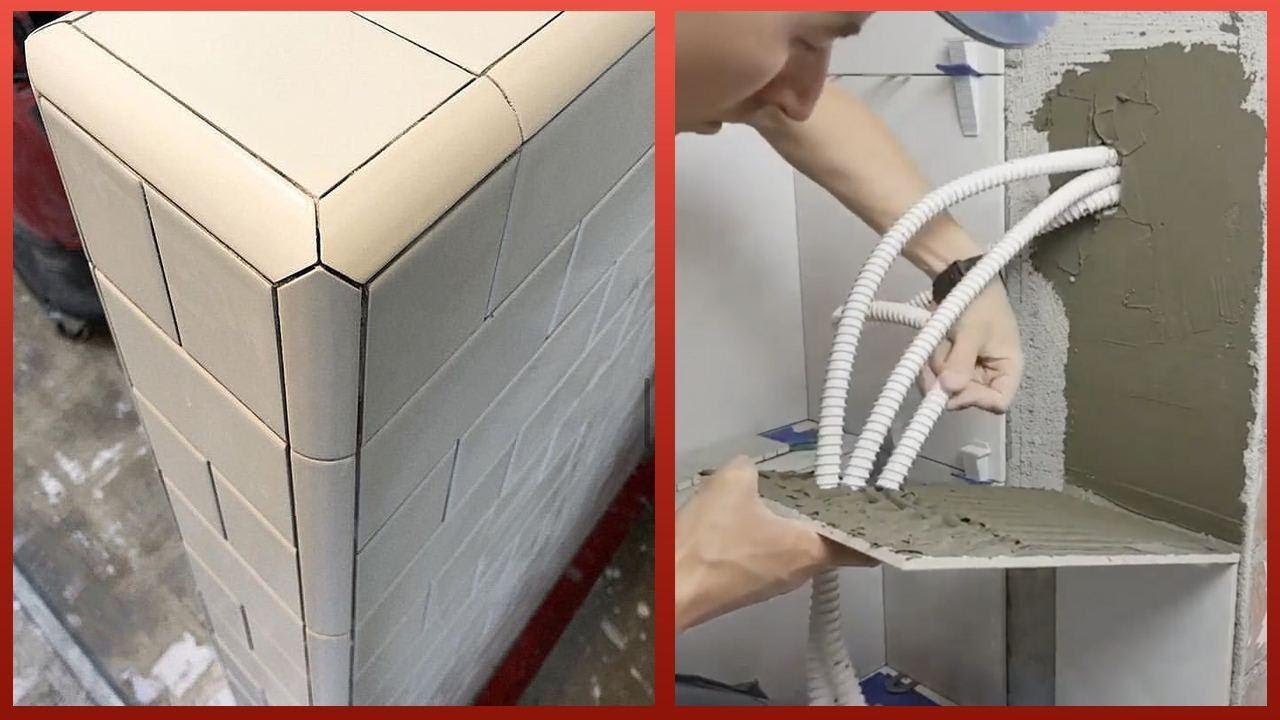 Most Amazing Ceramic Tile Installation | Workers with Tiling Skills