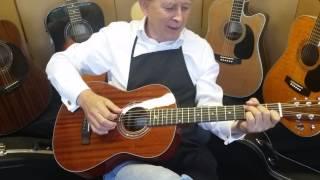 2015 Zager Parlor Size guitar walkaround