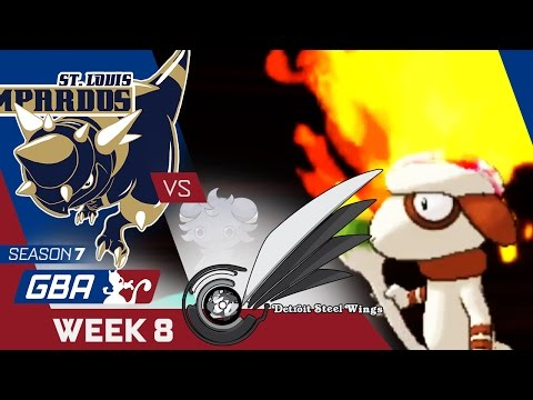 STICKY SITUATIONS! St. Louis Rampardos VS Detroit Steel Wings Week 8 GBA S7 | Pokemon Sun Moon WiFi