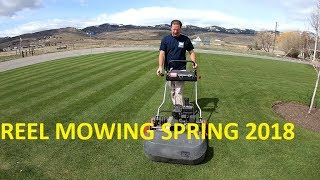 Mowing with a REEL mower Spring 2018