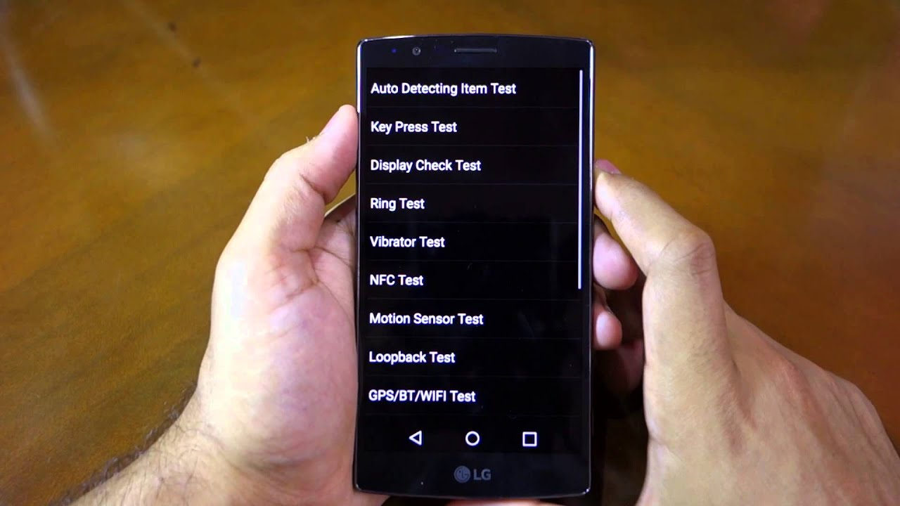 How to access the hidden service menu on the LG G4