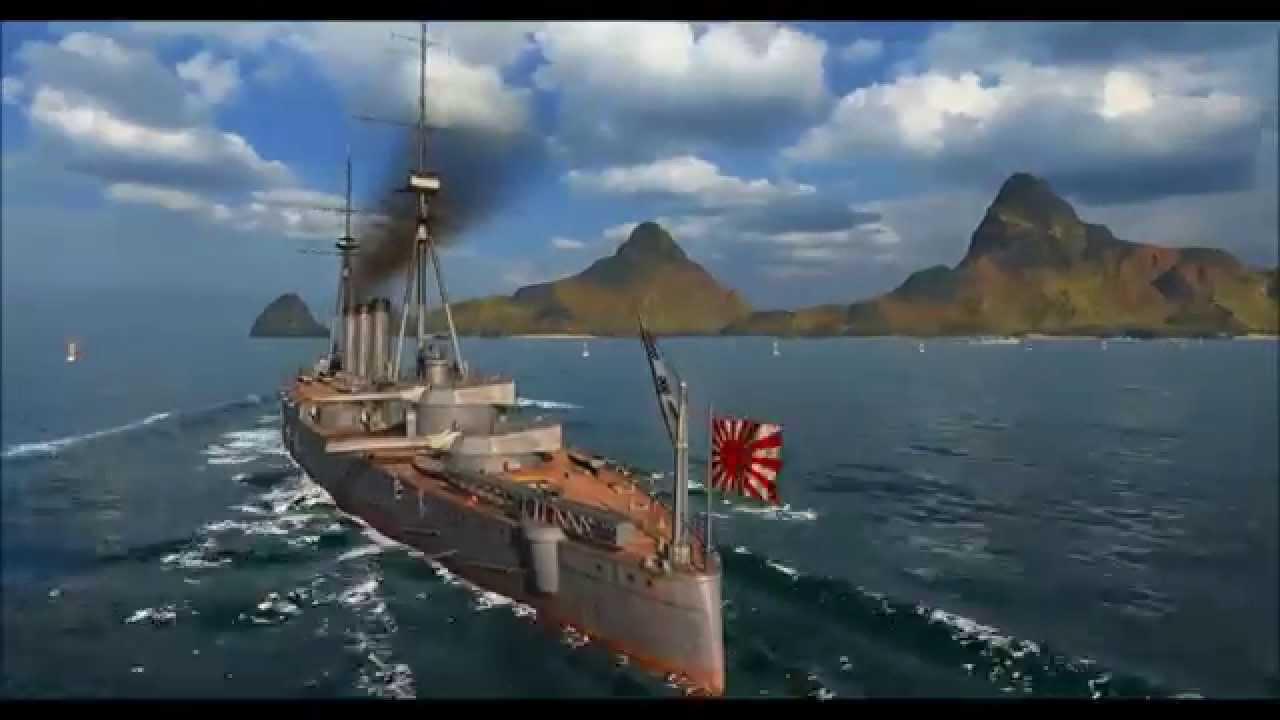 大艦巨砲主義! World of Warships 戦艦妙義にのってみた - YouTube