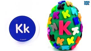 Learn-K-Letter | Spelling Words that Start with the Letter K | Surprise Egg Play Doh |Lesson 11