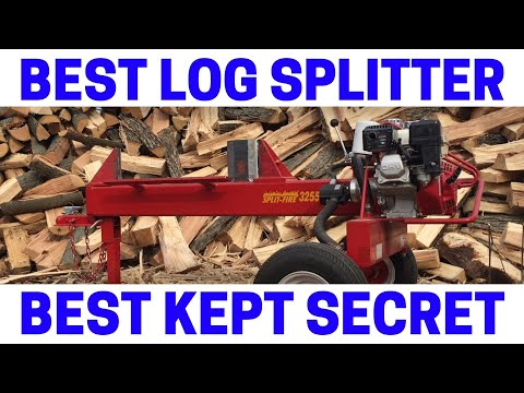 Split-Fire Log Splitter BEATS ALL OTHERS (Two-Way Knife Action, Self Cleaning)