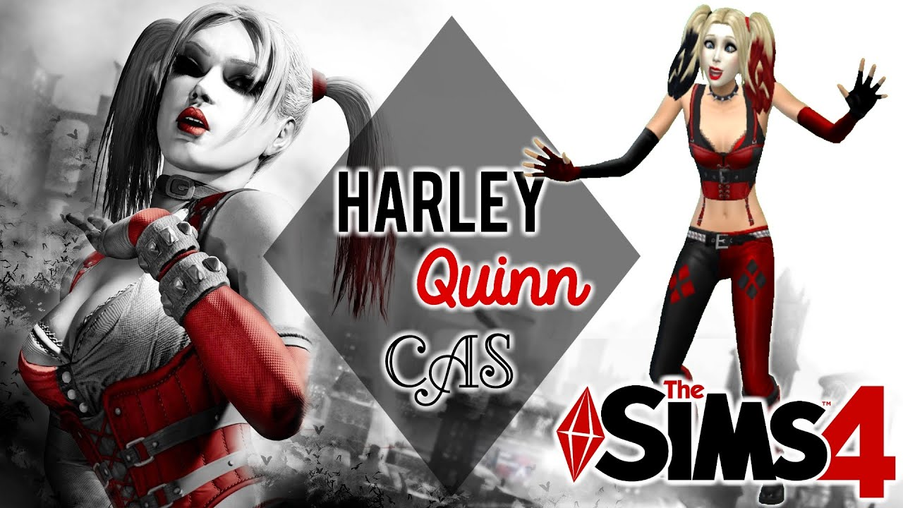 the sims 4 cas harley quinn batman arkham city youtube