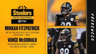 Minkah fitzpatrick on the eagles offensive weapons | vance mcdonald ben roethlisberger and defenseminkah & spoke to ...