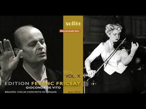 "Brahms ""Violin Concerto"" Gioconda De Vito/Ferenc Fricsay"