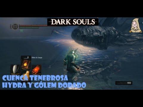 Dark Souls guia: LA CUENCA TENEBROSA - Hydra y gólem dorado || EP.18