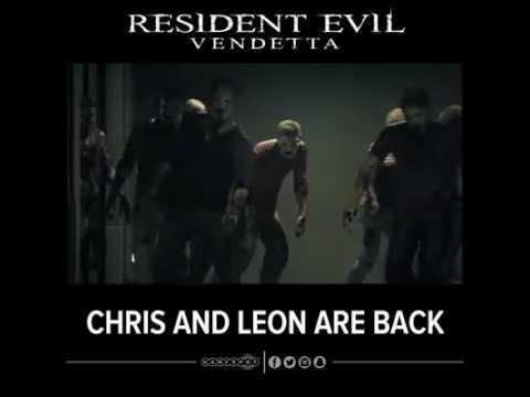 Resident Evil Vendetta Leon And Chris Vs Zombies Scene Youtube