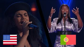 """The Voice USA vs Portugal - """"Never Enough"""" 
