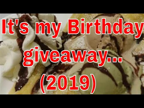 It's My Birthday Giveaways, Have Fun & Goodluck!