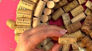 #77 Create your own Cork Wreath Part Two: Putting it Together