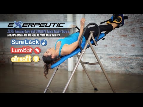 4501 - Exerpeutic 225SL Inversion Table with SURELOCK System, Lumbar Support and AIR SOFT Ankle