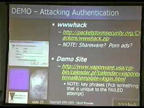 DEF CON 11 - David Rhoades - Hacking Web Apps