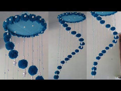 Woolen Wall hanging| വൂളൻ ക്രാഫ്റ്റ് ഐഡിയ |Yarn Decor