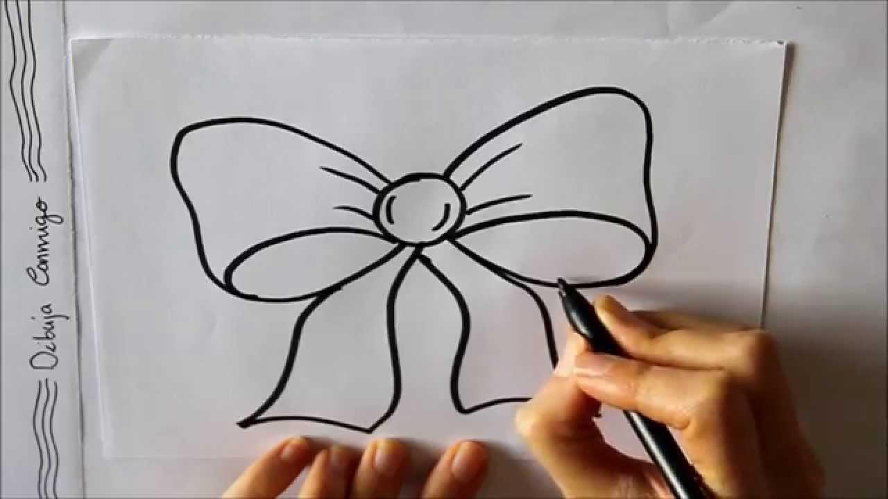 Cómo Dibujar Un Lazo O Moño Dibuja Conmigo Dibujos De Navidad