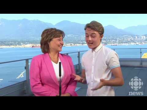 Christy Clark's first  conference after leaving as Leader of BC Liberals